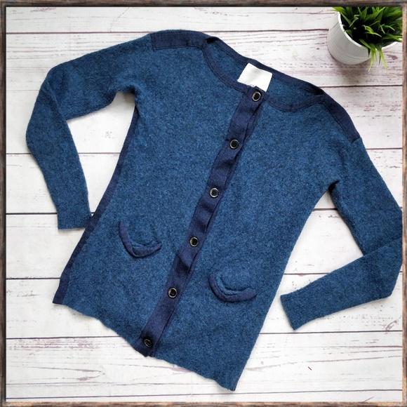 3.1 Phillip Lim Sweaters - 3.1 PHILLIP LIM Blue Wool Cashmere Cardigan S